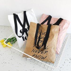 Women Bag High Large capacity handbags Womens Fashion Lightweight Shoulder Bag Paper Handbag Classic Color Waterproof510