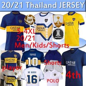 2020 2021 Boca Juniors Fussball Jersey 4. Home Away Gago Osvaldo Carlitos Perez de Rossi Tevez Fans Spieler Dritter Shorts Hosen Polo Thailand