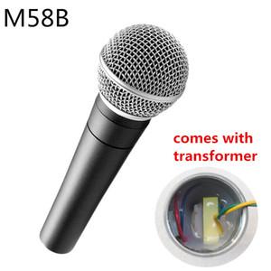 Finlemho профессиональный микрофон Karaoke Studio Recording Dynamic Mic Capsule Vocal Ручной Аккумуляторный SM58S для Home Studio