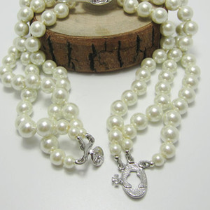 New Arrival 3 Layers Pearl Orbit Necklace Women Rhinestone Satellite Planet Necklace for Gift Party High Quality