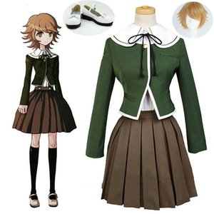 Danganronpa1 Trigger Happy Havoc Chihiro Fujisaki Cosplay for Halloween Party Uniform Outfit