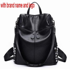 Women Rivet Backpack Korean Leather Style Brand Designer Black Bookbag Mochila Mujer De Couro Feminina Back Pack 6q0ra 6597