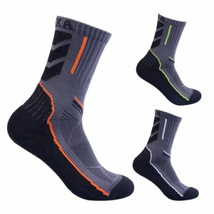 Outdoor Climbing Hiking Cycling Running Skiing Socks Men High-top Sport Socks Quick Dry Breathable Absorb Sweat Antibacterial L2 B7UF#
