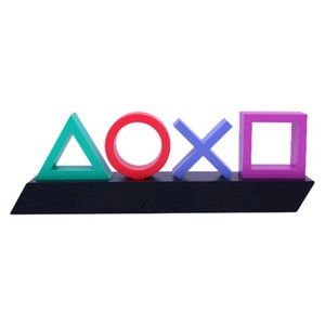 Playstation Sign Voice Control Game Icon Light Acrylic Atmosphere Neon Bar Lamp Club KTV Decorative Ornament Enhance Game