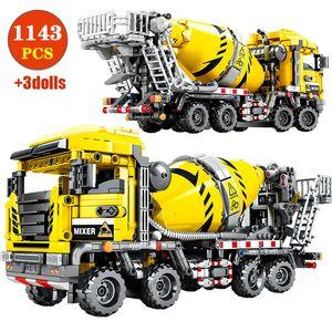 City Engineering Truck Excavator Roller Building Blocks Technic Bulldozer Crane Construction Car Bricks Toys For Boys