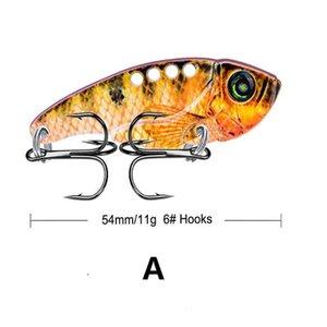 1pcs Metal Vib 11g 5.4cm Fishing Lure Vibration Spoon Bass Baits Crankbait Bass Wobbler Hard Baits Cicada Lure Vi jllURL