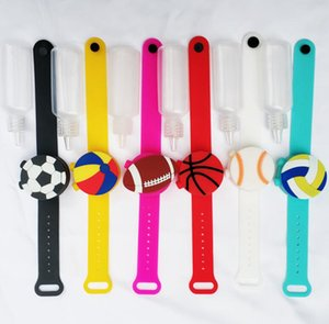 Temizleyici Bilezik Beyzbol El Temizleyici Bilek El Silikon Temizleyici Dağıtıcı Taşınabilir Karikatür Silikon Bileklik GGA3760-2 bilezik