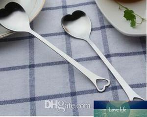 Gli amanti a forma di cuore amore cucchiaio di caffè del tè di dosatore di cerimonia nuziale dell'amante favori di acciaio inossidabile cena da tavola