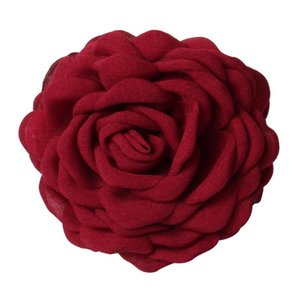 Fabric Rose Flower Hair Claw Clips for Women girls Hair Clip Barrette plastic clamps Headwear Accessories