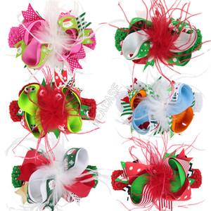 2020 Kids Christmas Cabelo De Cabelo Cabelo Headbands Cabelo Clipe Criança Hairpin Bowknot Barrettes Party Acessórios De Cabelo Acessórios Cocar D102802