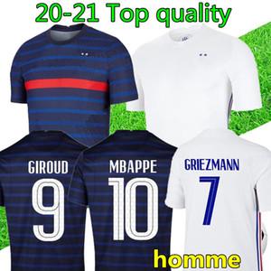 Men soccer jersey 20 21 maillot de foot 2020 2021 FR football jerseys blue white football shirts S-XXL maillots de football
