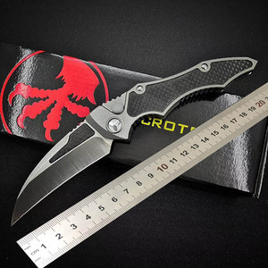 High quality MICRO-TECH Hawk claw folding Knife D2 Blade Aviation aluminum+Carbon Fiber handle Tactical automatic knife Survival gear knives