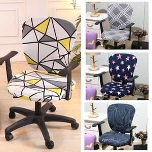 Universal Chair Covers Office Stretch Knitted Fabric Swivel Chair Covers Protective Stretchable Rotating Slipcover For Com