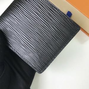 Fashion High Quality Mens portafogli da uomo classico portafoglio a strisce con texture portafogli multiple Bifold brevi piccoli portafogli con scatola