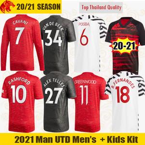 20 21 Manchester United Camiseta de fútbol VAN DE BEEK 2020 2021 RASHFORD FERNANDES Camiseta Fans Versión de jugador GREENWOOD McTOMINAY hombre Kit niños