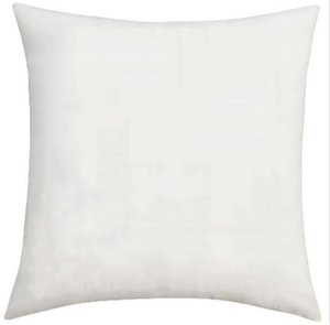 2021 Grosso Poliéster Lona Descanso Caso Branco Throw Travesseiro Capa para DIY Sublimação Pure Branco Poliéster Almofada cobertura