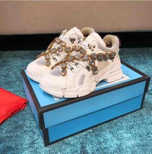 Tasarımcı Ayakkabı Flashtrek Sneaker Çıkarılabilir Kristalleri ile Boy Tasarım Açık Yürüyüş Sneaker Çizmeler Erkekler Ayakkabı Deri Sneakers