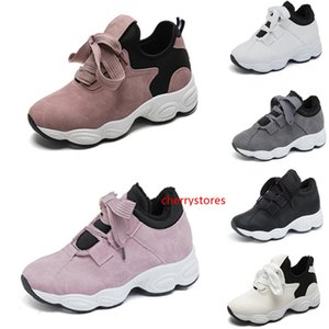 Non-Brand running shoes women White Black Pink Grey Suede Breathable Comfortable Trainers Sports Sneakers 36-40 Style 15 free shipping