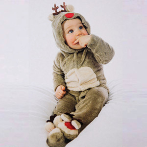Newborn Baby Clothes Christmas Little Reindeer Cosplay Baby Girl Clothes Boy Rompers Kids Costume For Girls Free Shipping 201130
