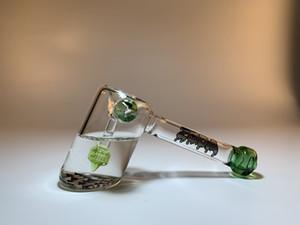 Zoda Glass-Water Pipe New Llegada Venta caliente Geometría Sagrada Manija de cristal transparente Tubo para fumar tabaco Envío gratis