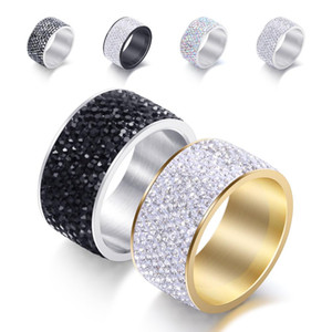 Men Women Rings Jewelry Fashion Gold Silver Color Geometric Circle Rings Trendy Stainless Steel Finger Rings