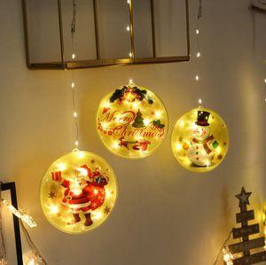 2020 Christmas Light Ornaments Led Snowman Santa DIY Family Greeting Pendant Personalized Xmas Tree Festive Party Decoration LJJP728