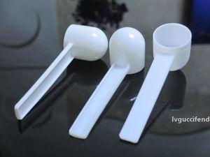 1000pcs / lot Profesyonel Beyaz Plastik 5 Gram 5g Kepçe Kaşık Yemek / Süt İçin / Yıkama Tozu / Tıp Ölçüm
