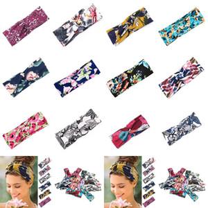 Bandas de 12 estilos de yoga del deporte de las mujeres del pelo 8 * 24cm Charm Cruz floral Hairband Impreso venda del nudo del borde ancho de pelo accesorios CYZ2845 100 piezas