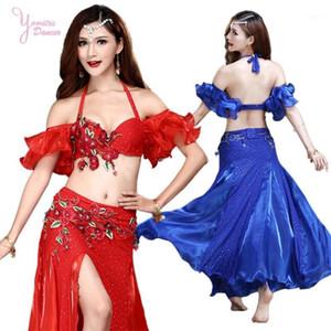Belly Dance Costume Set Adult Dance Clothes Long Skirt Bra Belly Suit Sexy Bellydance Costume Women Wear 20201