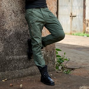 Spring men's Multi Pocket wide right tactical pants men's sports outdoor hiking pants pants suit