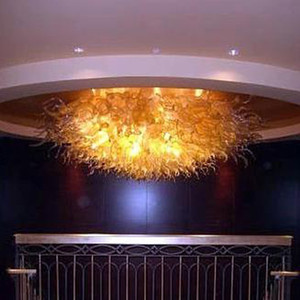 ceiling lights chandelier light fixtures Amber Color 96 Inch Wide by 32 Inch High chandelier lighting for living room home decoration-L