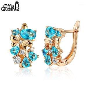 Effie Queen 2020 gioielli estivi oro color oro orecchini con lusso grande pietra zirconia cubica per gioielli festa nuziale DOME601
