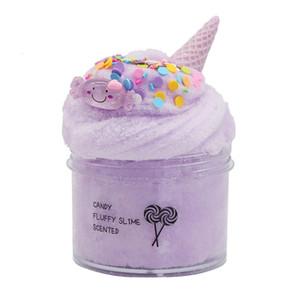 8oz 200ml Cloud slime Non-Sticky and Super Soft Scented Slime Candy Slimes with Cute Charm Stress Relief Toy 201226