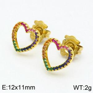 TKE31-45 Fils de OSO Acero inoxidable femmes bijoux pierre colorée femmes inoxydable pas les couleurs pâlissent pierres naturelles coeur agate stud 15mm Boucle d'oreille