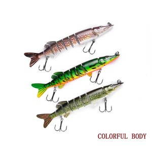 12.5cm 19.4g Fishing Lures Wobblers Hard Bait Artificial Isca Jointed Baits Plastic Pike Lure Tackle 2 Hooks