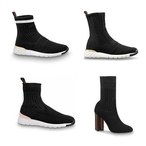 Hot Sale- Designer Aftergame Sneaker Boots Women Socks Ankle martin Boots Stretch Speed Shoes High Heel Silhouette Ankle booties Winter Shoe