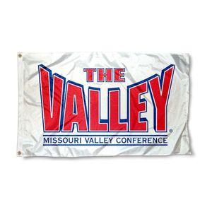 La bandera de la conferencia del valle NCAA bandera de alta calidad 3x5ft decoración doble costada deportes Banner de 90x150cm envío gratis