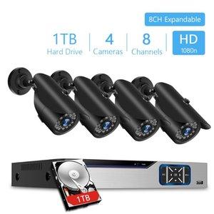 8CH CVI TVI HVR AHD 5-in-1 DVR CCTV Recorder 4adet 1080P Video Gözetim Güvenlik Kamerası Açık CCTV Güvenlik Sistemi Seti