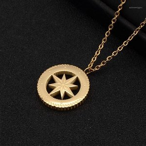 Necklace for Women Stainless Steel North Pluto Sun Tarot National Wind Lion Medal Gold Coin Compass Pendant Jewelry on The Neck1
