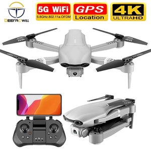Nouveau Drone F3 GPS 4K 5G WIFI Vidéo Vidéo Vidéo FPV Quadrotor Vol 25 minutes Distance RC 500m Drone HD à double angle Dual Caméra Toy 201208