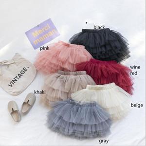 INS Babykinder Kleidung Rock Solid Color weiche bequeme Tutu Mädchen elegant Kuchen-Rock-Kleidung