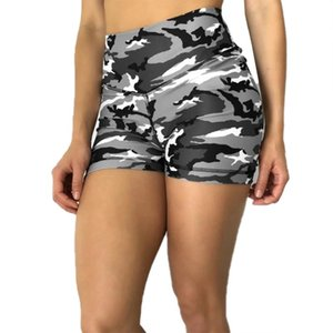 2021 Women Camouflage Trainning Shorts Lady Girls Camo Printing High Waist Short Pants Summer Clothing Buttocks Exercise Pants