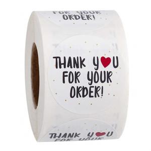 Merci autocollants auto-adhésifs pour Autocollants de papeterie cadeaux fabriqués à la main