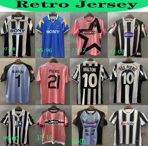 Ретро Юве дель Пиро футбол Джерси 84 85 92 95 96 97 98 99 02 03 11 Zidane древний майолот Дэвидс старая рубашка