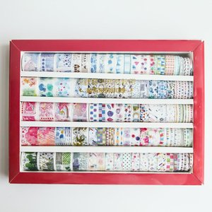 100 Roll Gift Box Koi Carp And Paper Tape Flower And Grass Retro Figure Salt Series Hand Tent Decoration Diy Material Suit sqcTjm homecart
