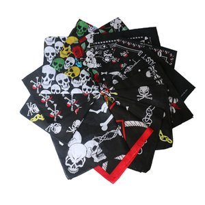 Fashion and popular ghost head skull pattern small square scarf street entertainment hiphop hip hop sports scarf Handkerchiefs