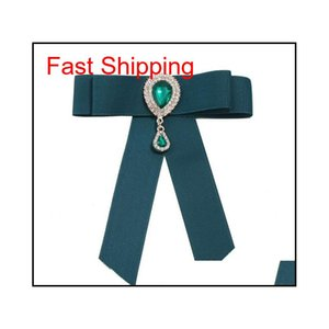Heißer verkauf neue großhandel - pin broschen förderung ribbon trendy unisex diamant schmuck broche bow brosche shirt c qylmdp bdehome