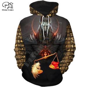 PLstar Cosmos Horus Dios egipcio del ojo de Egipto el faraón Anubis Antiguo Egipto IMPRIMIR3D cremallera / camisas / camisetas / chaqueta / Hombres / Mujeres 12 201020
