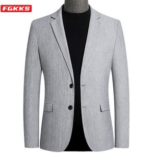 FGKKS 2020 Blazer Men New Arrival Spring Casual Thin Men's Suits Jackets Slim Fit Fashion Blazer Male A1106