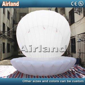 Hot venda diâmetro 3m Fantasia seashell gigante inflável clamshell inflável com até luz levou para a festa de aniversário decoração / casamento